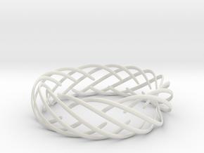 Voronoi Fashion Style Bracelet  in White Natural Versatile Plastic