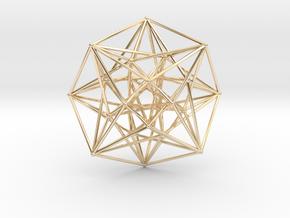 4D Vector Equilibrium Metatron's Compass 50mm -  in 14K Yellow Gold
