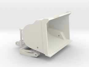 1/50th High Tip Front end loader bucket in White Natural Versatile Plastic