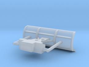 1/64th Snowplow blade for Skid Steer in Smooth Fine Detail Plastic