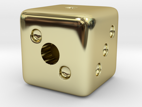 Lucky Charms - Dice in 18k Gold Plated Brass