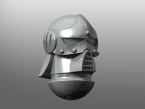 Chronos pattern Helmet in Smooth Fine Detail Plastic