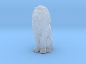 Lion - Seated 1:48 in Smooth Fine Detail Plastic