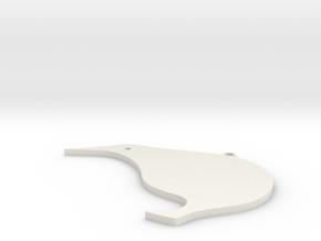 New Zealand Kiwi Earring in White Natural Versatile Plastic