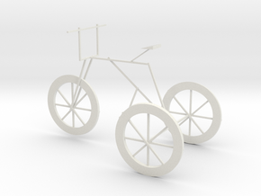 little bike in White Natural Versatile Plastic: Small