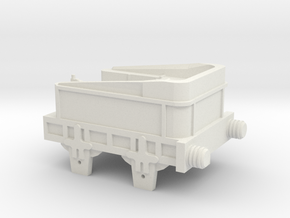 00 Scale Northumbrian Tender Scratch Aid in White Natural Versatile Plastic