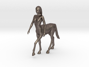Beautiful Female Centaur in Polished Bronzed Silver Steel