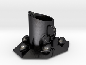 Rocket cup in Polished and Bronzed Black Steel