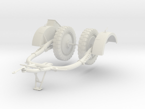 1:18 Sd.Ah 51 Trailer Anhanger for Flak-38 in White Natural Versatile Plastic