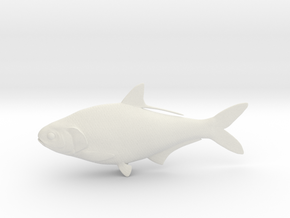 "Gizzard Shad 203mm (8"") in White Natural Versatile Plastic"