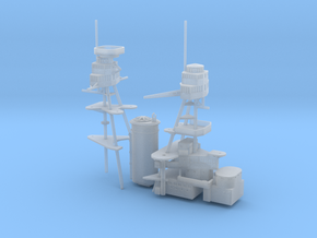 1/700 USS Nevada (1941) Superstructure in Smooth Fine Detail Plastic