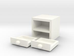 Simple cutlery cabinet in White Processed Versatile Plastic