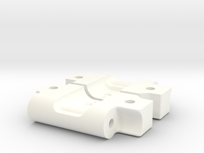 NIX73282 RPM Bandit Arm Mounts for RC10 (3-1) in White Processed Versatile Plastic