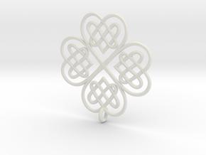 Clover Pendant in White Natural Versatile Plastic