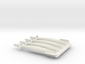 1/72 Scale GBU-10 Laser Guided Bomb in White Natural Versatile Plastic