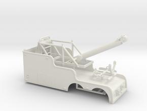 1/50th Tandem 22' Big Stick tow wrecker body in White Natural Versatile Plastic