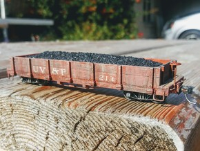 HOn3 Gondola Car in Smooth Fine Detail Plastic