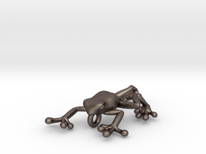 Frog S in Polished Bronzed Silver Steel