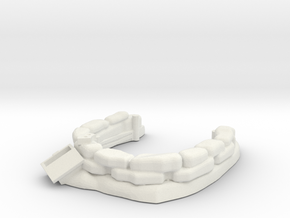 Sandbag Emplacement 1/76 in White Natural Versatile Plastic