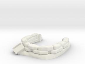Sandbag Emplacement 1/48 in White Natural Versatile Plastic