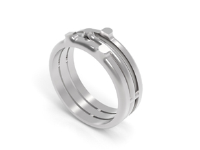SPROUT RING - SIZE 8 in Premium Silver