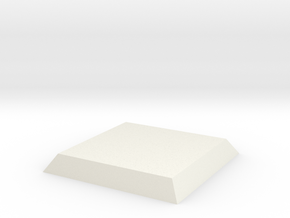 25mmsquare_base in White Natural Versatile Plastic