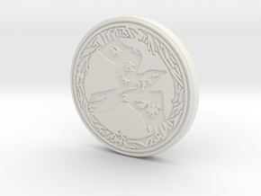 Raven animal totem token ( customized) in White Natural Versatile Plastic