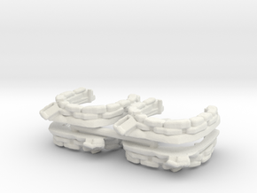 Sandbag Emplacement (x4) 1/200 in White Natural Versatile Plastic