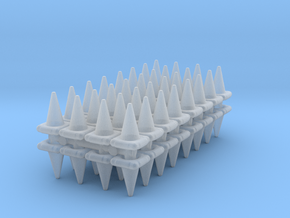 Traffic Cones (x64) 1/200 in Smooth Fine Detail Plastic