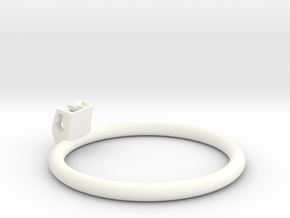 Cherry Keeper Ring - 85mm Flat in White Processed Versatile Plastic