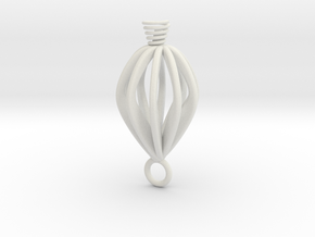 Twisted earring  in White Natural Versatile Plastic