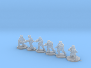 15mm Knights Squad 1 in Smooth Fine Detail Plastic