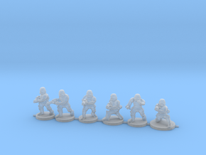 15mm Knights Squad 2 in Smooth Fine Detail Plastic