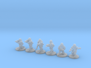 15mm Knights Anti Vehicle Squad in Smooth Fine Detail Plastic