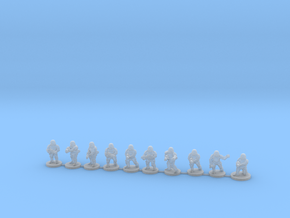 15mm Knights Full Squad in Smooth Fine Detail Plastic