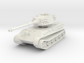 Tiger II H (no Skirts) 1/87 in White Natural Versatile Plastic