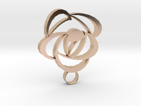 Rose Pendant in 14k Rose Gold
