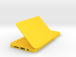 Card holder phone case in Yellow Processed Versatile Plastic