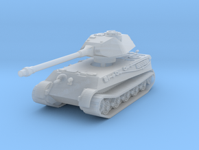 Tiger II P (no Skirts) 1/160 in Smooth Fine Detail Plastic