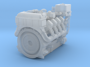 1380HP V8 Diesel Turbocharged Industrial Engine in Smooth Fine Detail Plastic: 1:48 - O