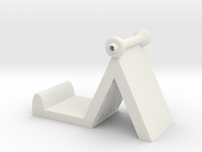Rechargeable phone holder in White Natural Versatile Plastic