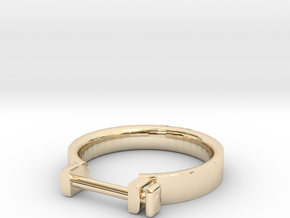 Cowboy Shackle Ring - Sz. 6 in 14K Yellow Gold