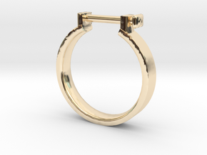 Cowboy Shackle Ring - Sz. 8 in 14K Yellow Gold