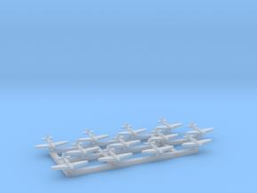 12pk Supermarine SeaFire Mk XV 1:1250 WW2 in Smooth Fine Detail Plastic