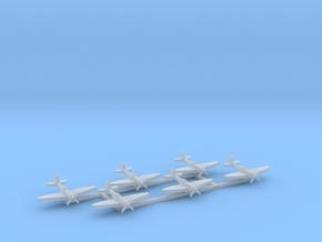 6pk Supermarine SeaFire Mk XV 1:600 WW2 in Smooth Fine Detail Plastic