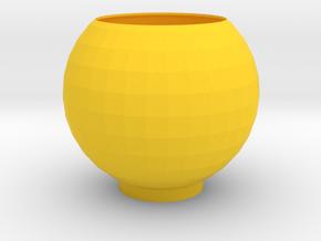 SUN CUP in Yellow Processed Versatile Plastic: Medium