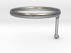 Screw bracelet in Natural Silver: Small