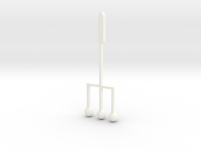 Quarter note fork in White Processed Versatile Plastic