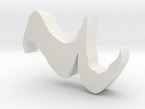 Quarter rest penholder in White Natural Versatile Plastic