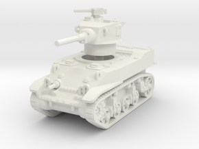 M5 Stuart 1/87 in White Natural Versatile Plastic